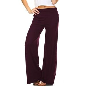 ❗️New❗️Best Palazzo Pants In Burgundy Size XL Soft